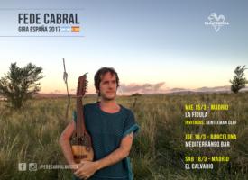 Fede Cabral gira por España con su sonido alter-latino