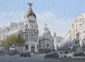 Un Madrid pintado por Guillermo Bekes
