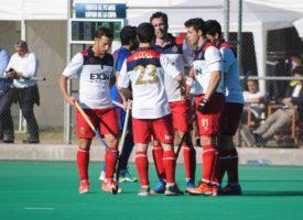 Los Leones Pedro Ibarra, Matías Rey y Lucas Vila, campeones de la Copa del Rey de hockey