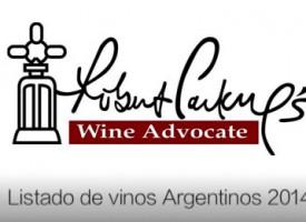 Lista de los mejores vinos de Argentina según Robert Parker en 2014