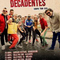 Los Auténticos Decadentes anuncian nueva gira europea