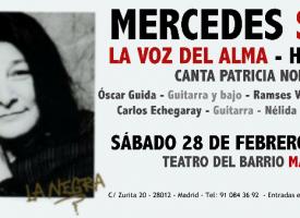 La voz del alma de Mercedes Sosa llega hasta Madrid